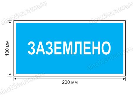 указывающий плакат в электроустановках