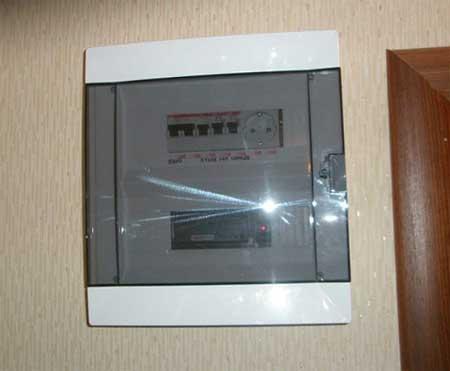 схема электрического щитка в доме