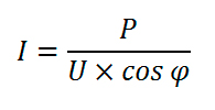 расчет силы тока для однофазной сети