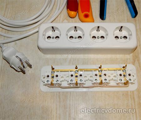как сделать переноску электрическую