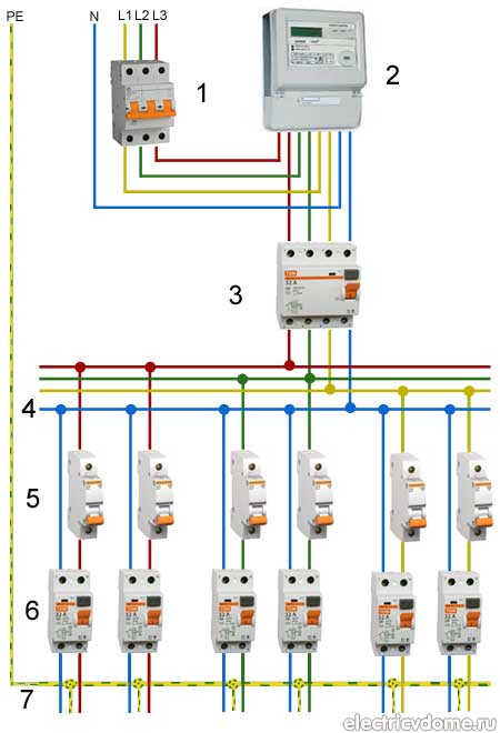 схема электропроводки при