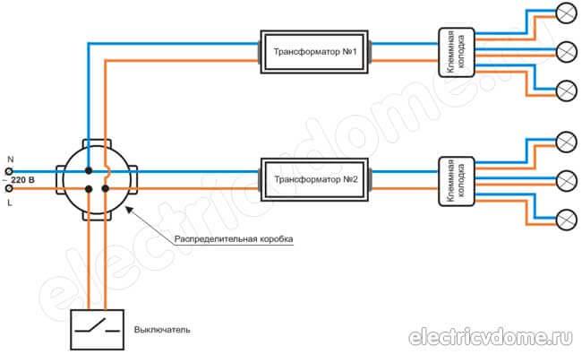 Блок схема подключения