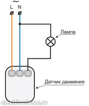 Датчики на движение для включения света схема подключения