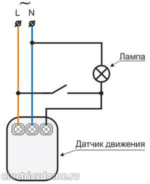 принципиальная схема датчика движения для освещения