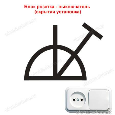 блок розетка с выключателем