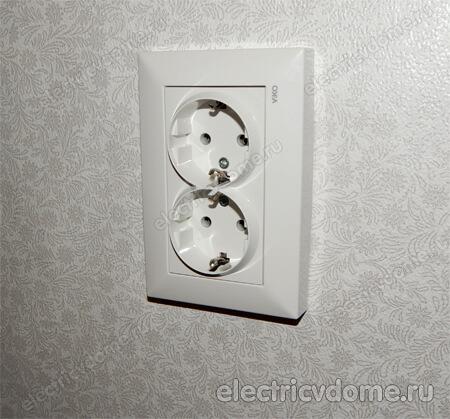 e0b76ca5260a Как подключить двойную розетку. Двойная розетка в один подрозетник