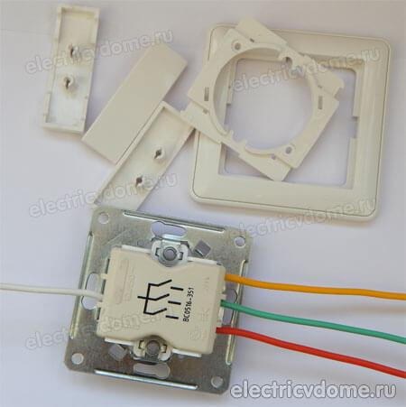 Подключение тройного выключателя схема